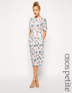 Enlarge ASOS PETITE Wiggle Dress in Pastel Floral Print