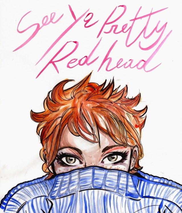 #Illustration #watercolour #Redhead #seeya #bellarossa #maria #meleto Sketch by Naima Morelli aka One More Red Naima