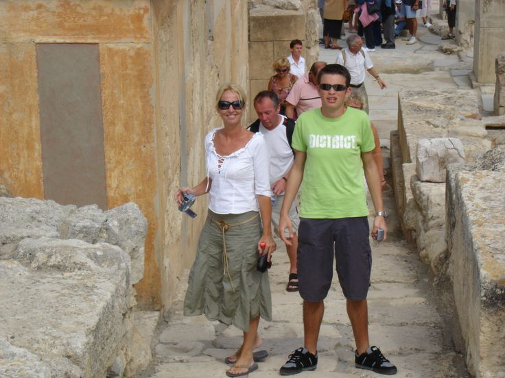 My son and I. Knossos
