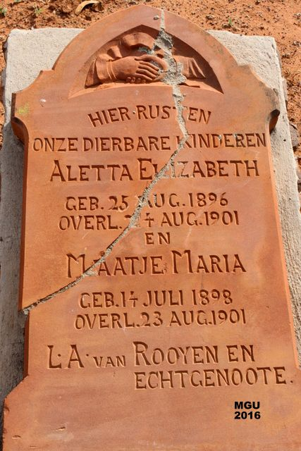 Nylstroom concentration camp cemetery