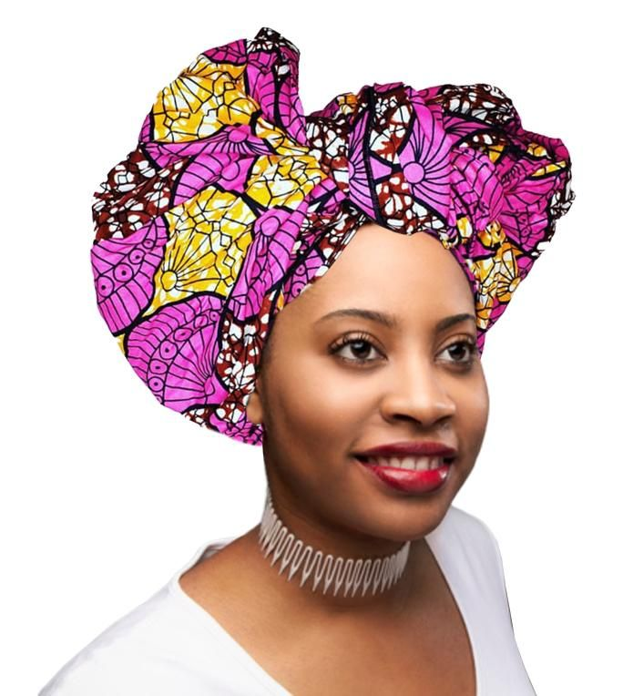 KENTE Extra Long 72″×22″ Headwrap ANKARA Dashiki African Print Head Wraps/Scarfs for Women – Purple, Brown and Orange Headwrap Tie Hat- Ethnic Tribal   – Products