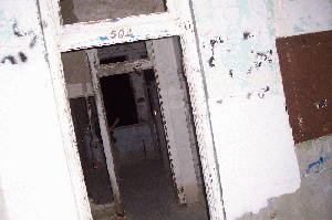 Room 502 at Waverly Hills. Legend says that in 1928, a nurse was found hanging from the light fixture. Many believed she'd committed suicide because she was unmarried and pregnant.