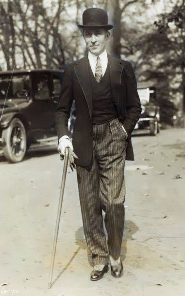 Couturier Jean Patou, dressed up to the nines in 1924. Noble fellow.