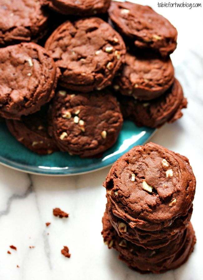 Mint Chocolate Pudding Cookies » Table for Two (making these now! the dough is beyond delish)
