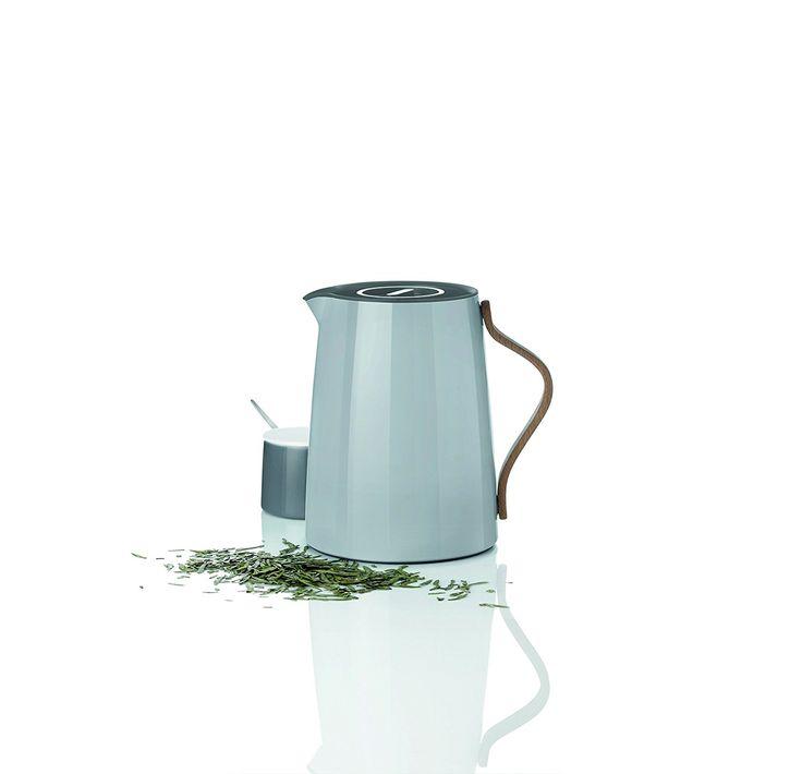 Stelton x-201-1 Emma Isolierkanne Tee, 1 L, Kunststoff, grau, 17 x 14 x 19.5 cm: Amazon.de: Küche & Haushalt