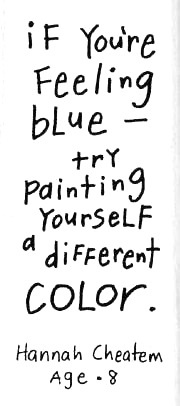 If you are feeling blue - try painting yourself a different color!  Loving Hearts Child Care and Development Center in Pontiac, MI is dedicated to providing exceptional tender loving care while making learning fun!  If you want to know more about us, feel free to give us a call at (248) 475-1720 or visit our website www.lovingheartschildcare.org for more information!