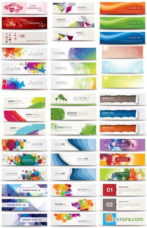 17 Vector Web Banners Bundle