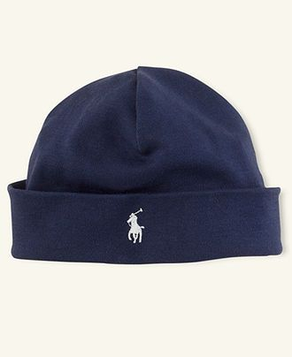 Polo Baby Hat, Baby Boys Beanie.  Would love this in white.