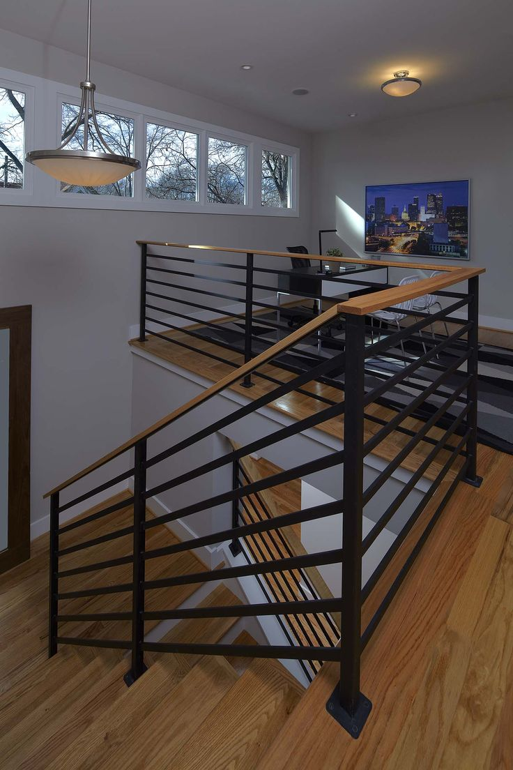86 best craftsman zen railings images on pinterest railings the loft area of a modern prairie style home the wall of windows allow natural