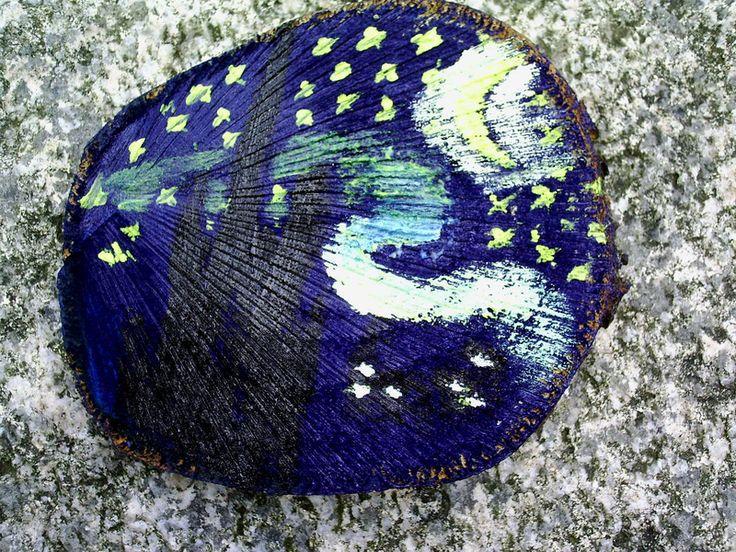 """Das Bild """"Räubernacht"""" wurde für die Aktion KunstRaub 1 angefertigt.  Als Inspirationsquelle diente das Gemälde """"Sternennacht"""" von Vincent van Go..."""