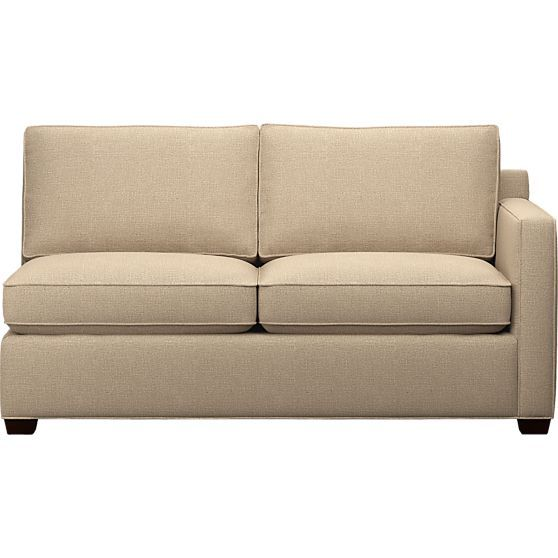 Davis Right Arm Sectional Full Sleeper Sofa in Sofas | Crate and Barrel - $1599