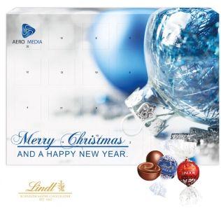 Branded advent calendar Luxury Lindt chocolate exclusive Christmas wall calendar