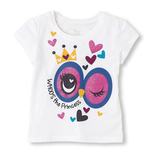 Whooo will love this tee? Your little princess!