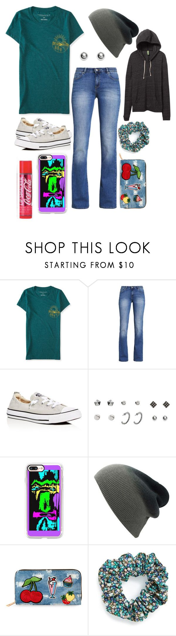 """Untitled #226"" by skylovessave ❤ liked on Polyvore featuring Aéropostale, ESPRIT, Converse, Casetify, Viola and L. Erickson"