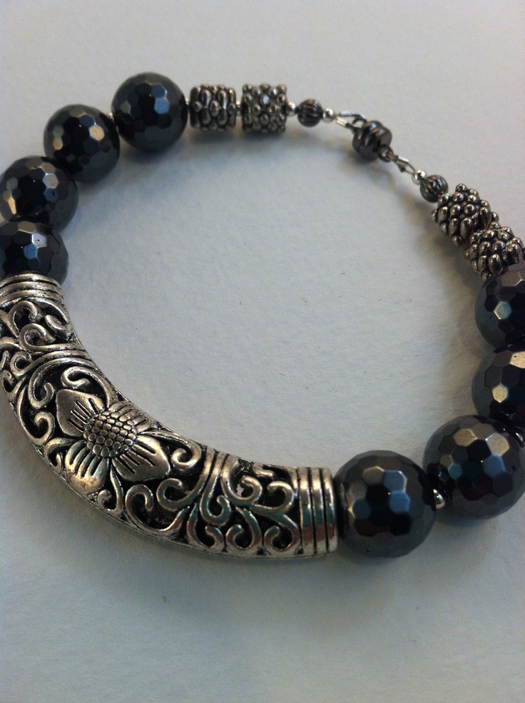Black Filigree Bracelet...