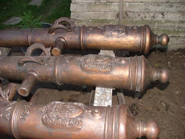 ship cannon images | bronze pirate ship cannons