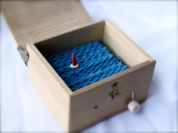 red+sailboat+automaton++in+lidded+wooden+box+by+cartoonmonster