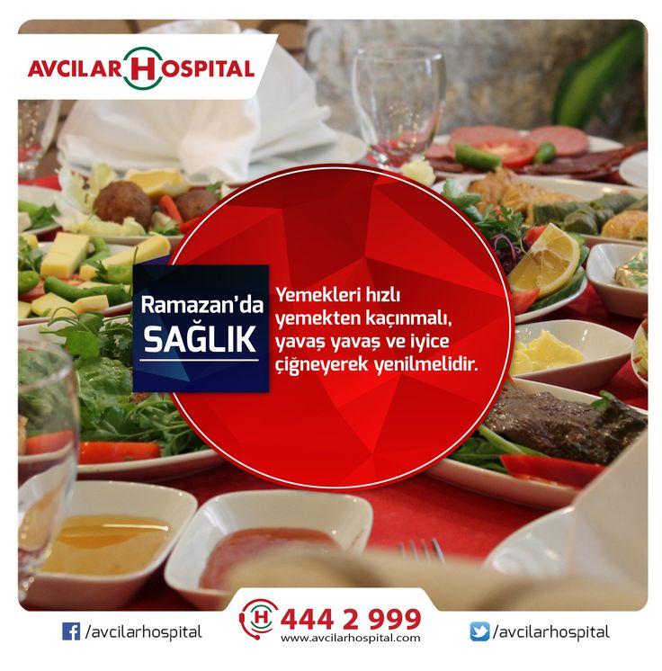 Ramazan'da açlık hissimizi iftar vakti hızlı ve aceleci şekilde gidermek yerine yavaş ve iyice çiğnemek gerekiyor. Aksi halde hızlı yemek yemenin ortaya çıkarabileceği hastalıklar şişmanlık, mide rahatsızlıkları ve kabızlık gibi birçok sağlık sorunlarını tetikleyebilir.  #ramazanayı #ramazandasaglik #iftar #beslenme #türkiye