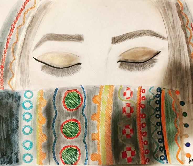 Face drawing by Sarah Sohail