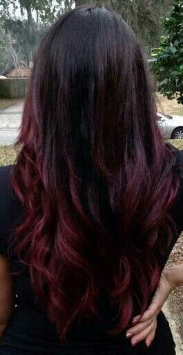 Plum ombre style