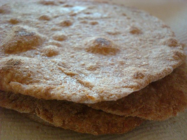 Close-Up on Homemade Chapati Bread