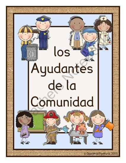Spanish Community Helpers - Los Ayudantes de la Comunidad product from Open Wide the World on TeachersNotebook.com