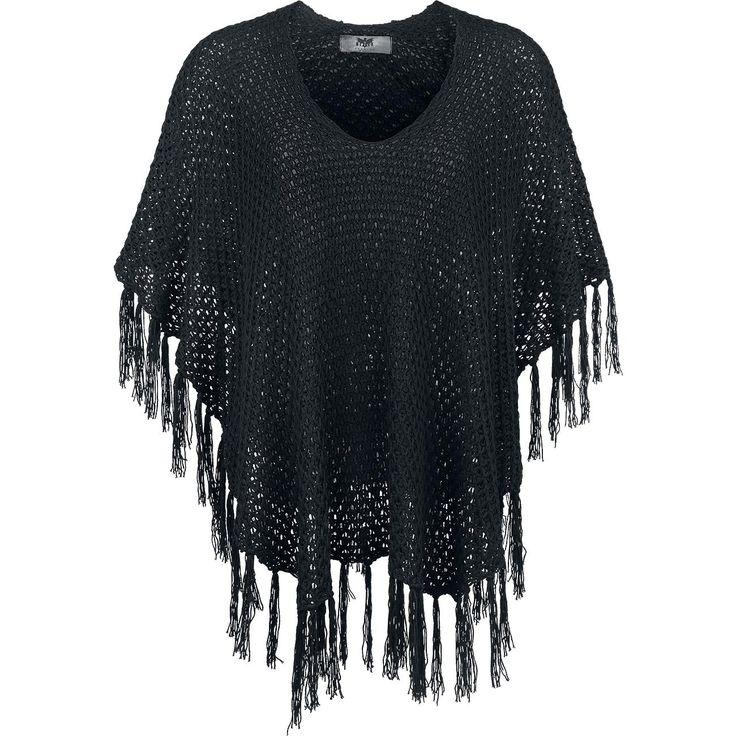 """Black Premium by EMP Cape, Frauen """"Knitted Poncho"""" schwarz • Jetzt bestellen • EMP"""