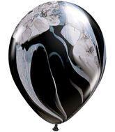 Black Agate marble swirl balloon