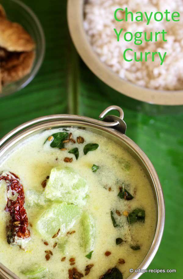 Chayote Yogurt Curry | Seeme Badane Majjige Huli - Udupi Recipes
