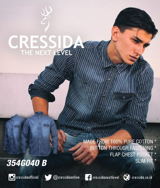 Chambray shirt stripe by CRESSIDA