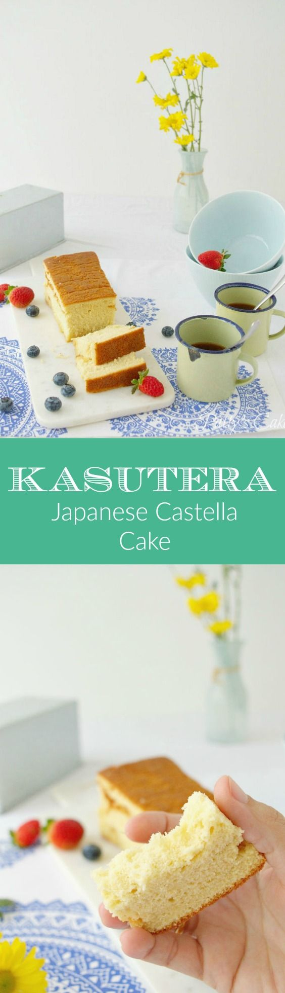 Kasutera or Castella - Japanese sponge cake - Bizcocho japonés - English recipe included