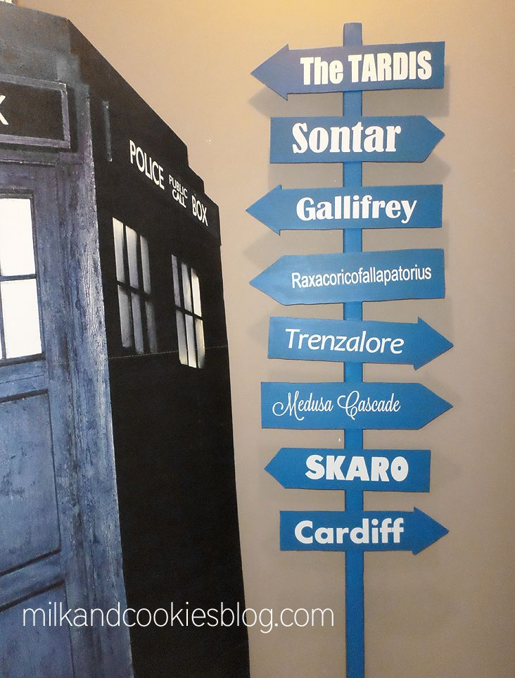 Which Way to Gallifrey? Doctor Who directional sign. Don't go to Trenzalore.