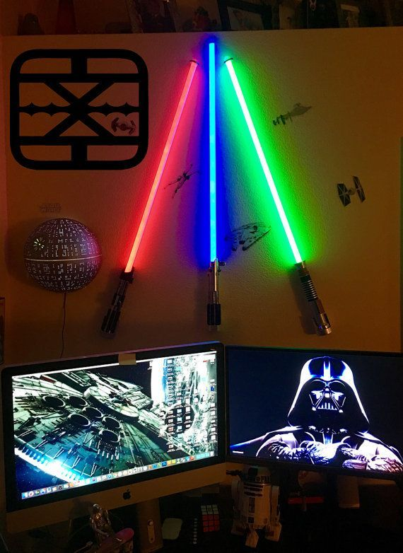 Pin By Kaden On Joe S Room Redo In 2020 Lightsaber Star Wars Theme Room Star Wars Bedroom