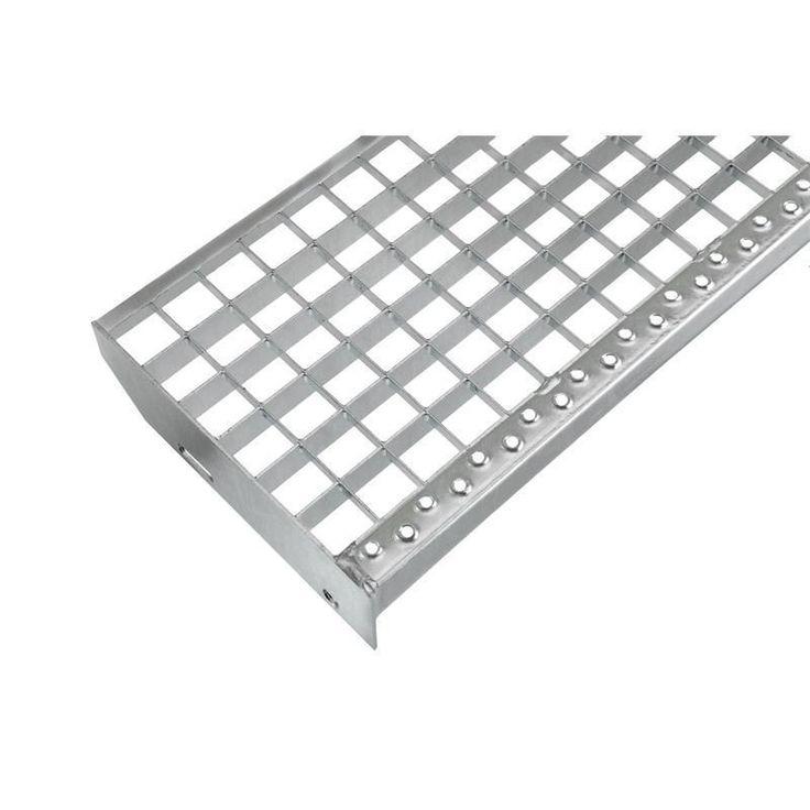Einpress Industrie Gitterroststufen Treppenstufen MW 30x30 verzinkt