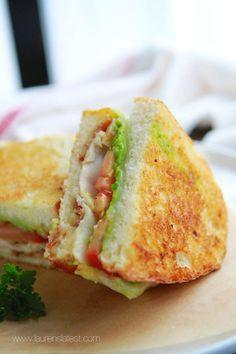 California Club Grilled Cheese Sandwich  Keep it Halal and use a halal bacon product.  Urban Hijab