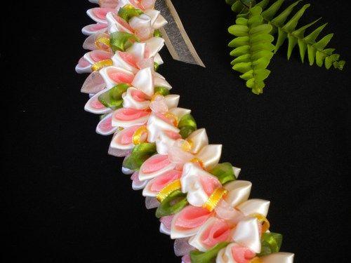 Pretty Pastels Fancy Ribbon Lei   leibling – Flora…