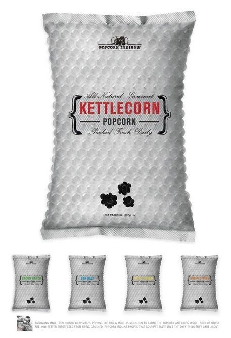 """Kettlecorn"" popcorn packaging"