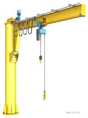 Pillar Jib Crane Design 3d Cad Models And 2d Dwg Jib