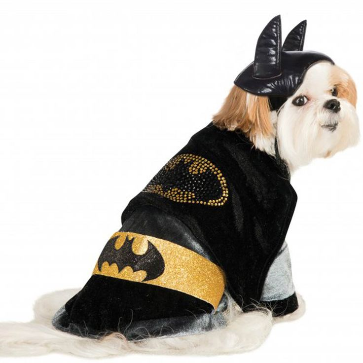 Cuddly Batman Dog Costume with Rhinestone Logo