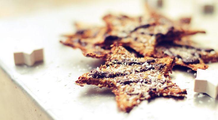 Healthy Crispy Christmas Cookies! kerstkoekjes zonder suiker. Heerlijk van smaak en super gezond.