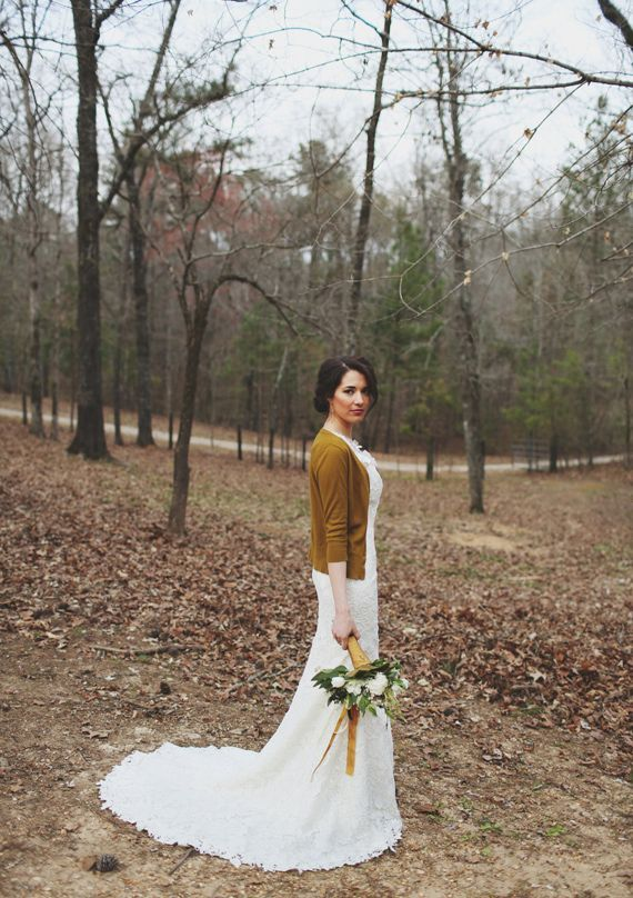 cardigan love // Woodland wedding inspiration | photos by W & E Photographie | 100 Layer Cake