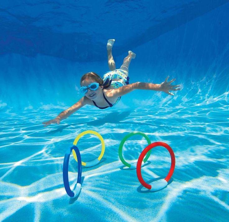 Rings Pool Underwater Diving Game