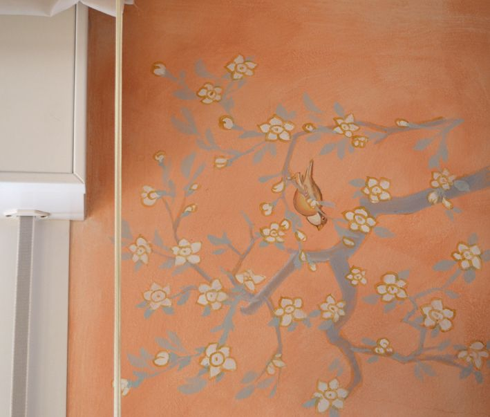 Japanese branch on the wall, Rosso Sinopia 2012