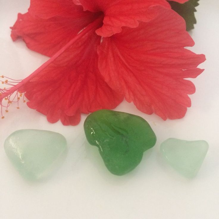 Authentic Sea Glass Hearts, Caribbean Sea Glass, Jewelry Supplies, Collectibles #JewelrySupplies