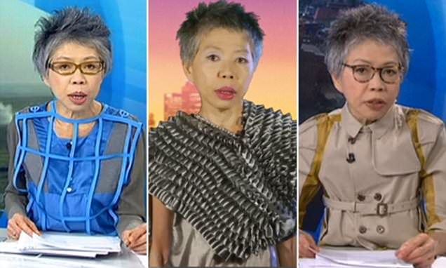 A look into the over-the-top architectural collars, wonky necklines and incredible sense of humour Australian news presenter Lee Lin Chin wears in front of the camera.