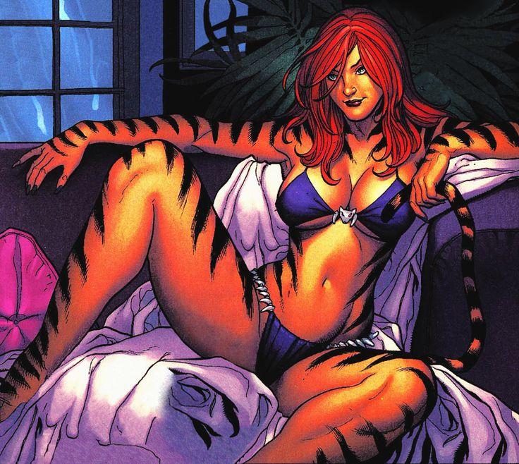 tigra   frank cho comic art frank cho pinterest