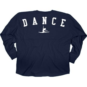 Dance Spirit Jersey | Hey dancer! Dance your way to dancing class in this cute spirit jersey! Show your love for dance and wear this big and comfy shirt to school, classes and more! #dance