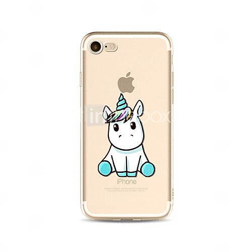 Para Translúcido / Estampada Capinha Capa Traseira Capinha Animal Macia TPU AppleiPhone 7 Plus / iPhone 7 / iPhone 6s Plus/6 Plus / de 2017 por €2.93