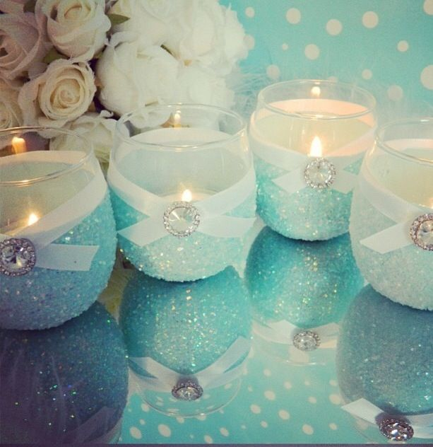 DIY candle holders - easy & low-cost project to dress up a table.