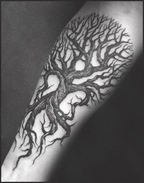 2930d8be19a64 50 Gothic Tattoos For Men - Dark Body Art Design Ideas #Tattoosformen